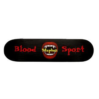 Monopatín del diseño de la boca del empeine tabla de patinar