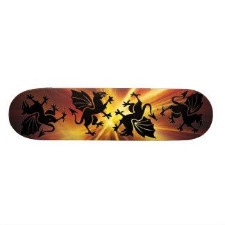 monopatín del dragón del fuego patines