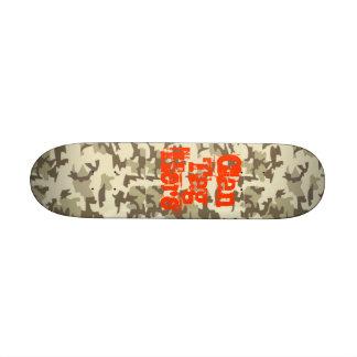 Monopatín del ejército del desierto tablas de skate