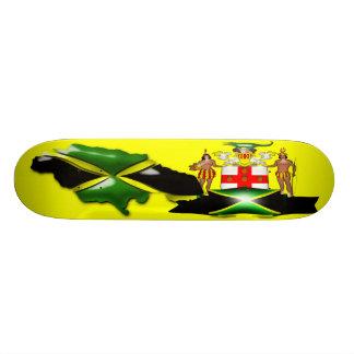 Monopatín del escudo de armas de Jamaica Tabla De Patinar