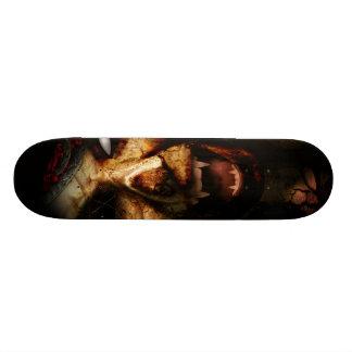 Monopatín del estilo del horror tabla de patinar