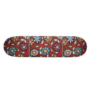 monopatín del flower power del hippie monopatin personalizado