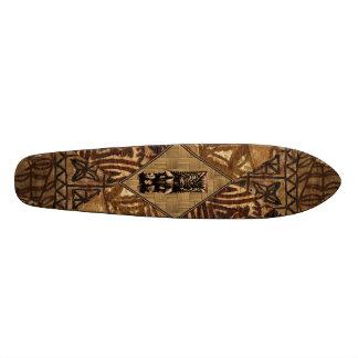Monopatín del Hawaiian de Tiki del Tapa