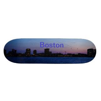 Monopatín del horizonte de Boston