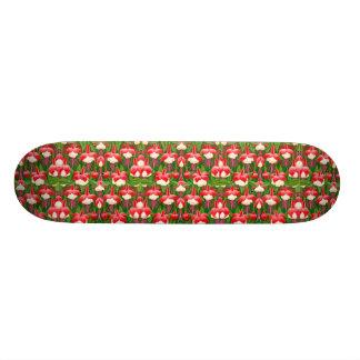 Monopatín del jardín de flores de Fuschia Skate Boards