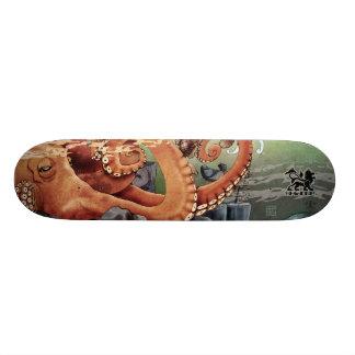 Monopatín del jardín del pulpo skate board
