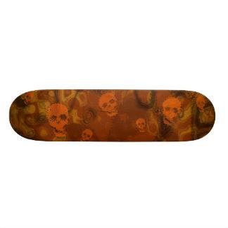 Monopatín del naranja de los espectros del cráneo patin personalizado