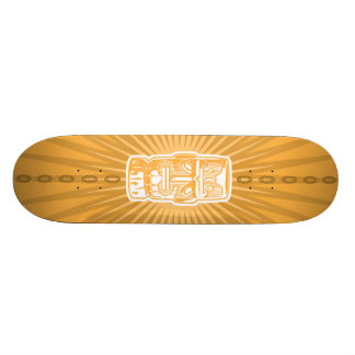 Monopatín del naranja de Tiki Skate Boards