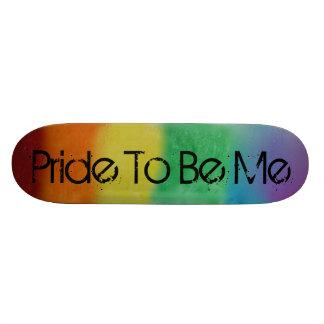 Monopatín del orgullo del arco iris patinetas personalizadas