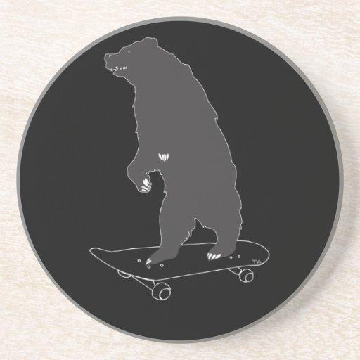 monopatín del oso posavasos personalizados