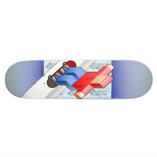 Monopatín del patinador del bloque