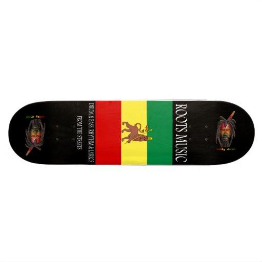 Monopatín del reggae de la música de las raíces