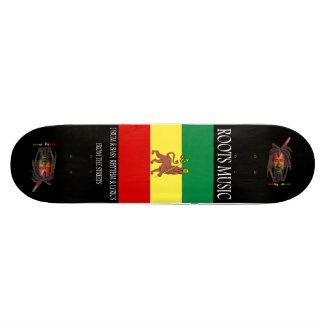 Monopatín del reggae de la música de las raíces patín