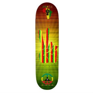 Monopatín del reggae de Rasta Skateboard