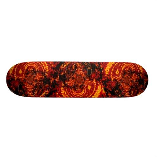 Monopatín del remolino de la lava
