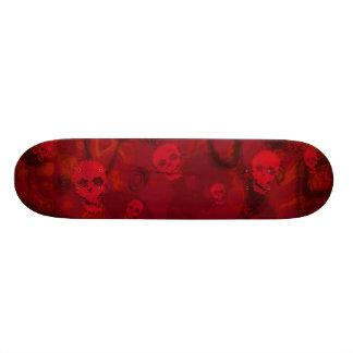 """Monopatín del rojo de los espectros del cráneo patineta 7 1/8"""""""
