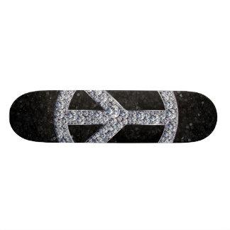 Monopatín del signo de la paz del diamante
