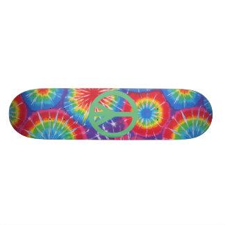 """Monopatín del teñido anudado de la paz del hippy patineta 8 1/2"""""""