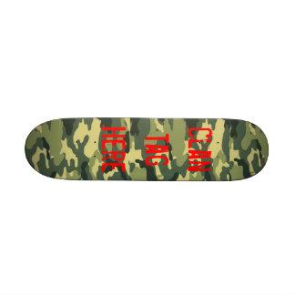 Monopatín del verde caqui tablas de patinar