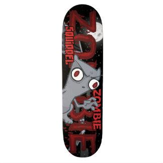 Monopatín espumoso de la ardilla del zombi tabla de patinar