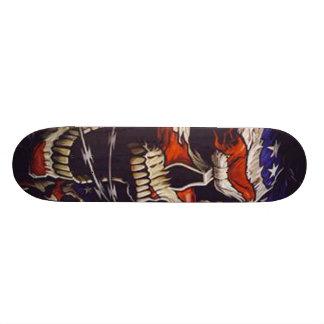 Monopatín esquelético patriótico skateboards