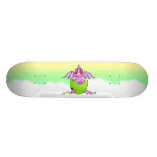 Monopatín estrellado del cielo del huevo agrietado tablas de patinar