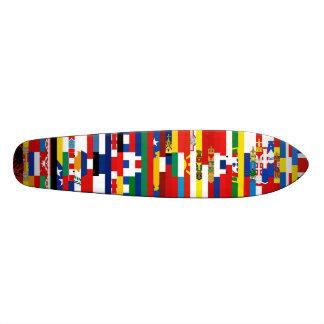 Monopatín europeo de las banderas patineta personalizada