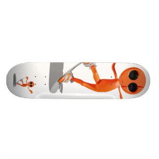 """Monopatín extranjero anaranjado de la snowboard patineta 7 1/8"""""""