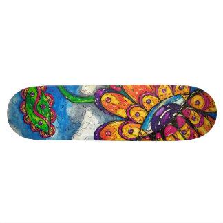 Monopatín extranjero de la flor del ojo skateboard