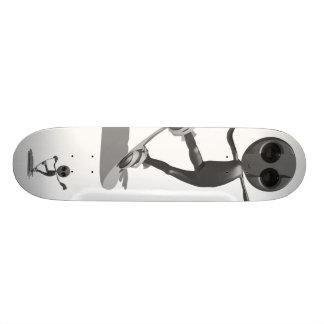 Monopatín extranjero negro de la snowboard monopatines personalizados