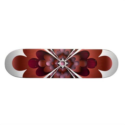 Monopatín, flor, Brown rosado de color de malva ma
