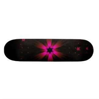 Monopatín fucsia de la explosión de la flor skateboards