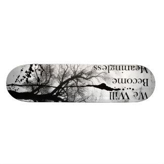 Monopatín gótico de Emo blanco y negro Patin Personalizado