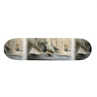 Monopatín juguetón del oso polar patines personalizados