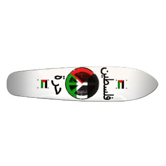Monopatín libre de Palestina Tabla De Skate