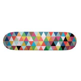 Monopatín modelado geométrico colorido patin