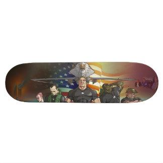 Monopatín mural patriótico skateboard
