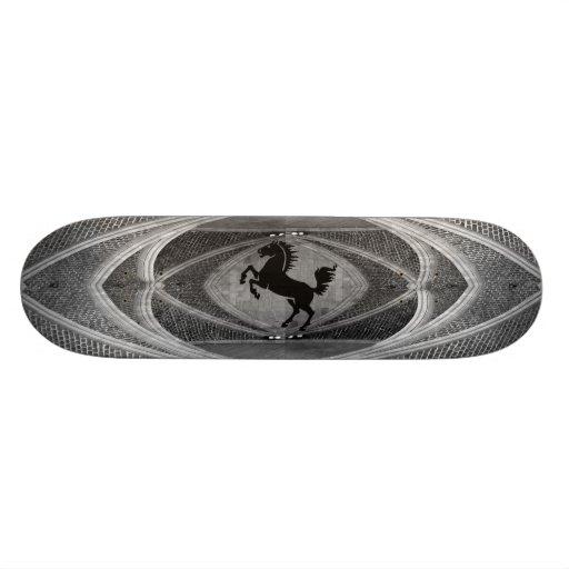 Monopatín negro del caballo tablas de patinar
