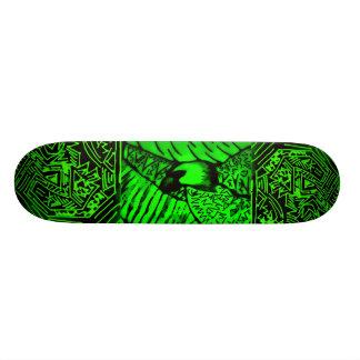 "Monopatín negro/del verde abstracto de ""Eagle"" Patin"