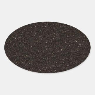 Monopatín negro Griptape Pegatina De Ovaladas