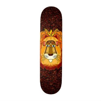 Monopatín principal del león patín personalizado