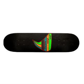 Monopatín principal oscuro del sello de las indust skate boards