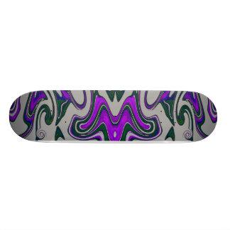 """Monopatín púrpura y negro de la mariposa del palo  patineta 7 3/4"""""""