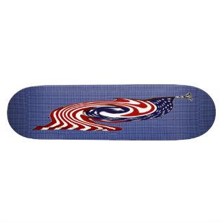 Monopatín rápido del flujo de la bandera americana patín