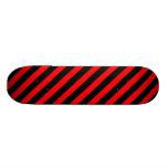 Monopatín rayado negro rojo