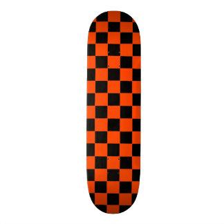 Monopatín retro del inspector del naranja y del patin personalizado
