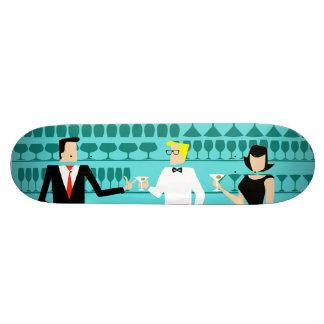 Monopatín retro del salón de cóctel tabla de patinar