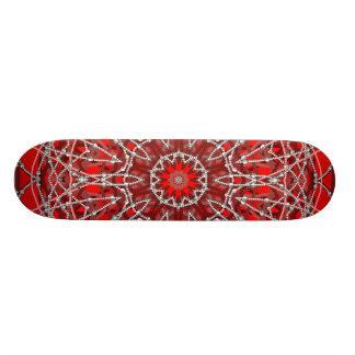 Monopatín rojo de las gotas skateboards
