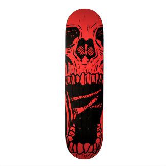 """Monopatín rojo del cráneo patineta 7 3/8"""""""