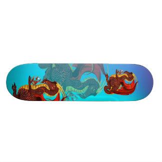 """Monopatín rojo del dragón patineta 7 3/8"""""""